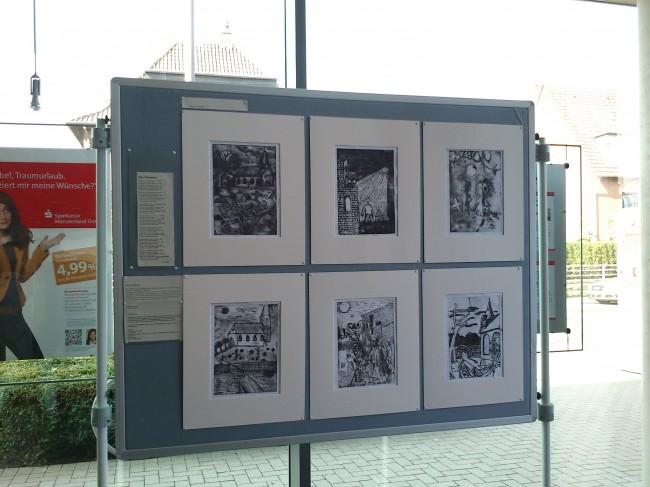 Ausstellung des 8mk-Kurses in der Sparkasse